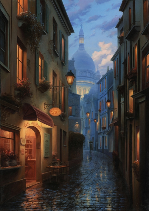 23-Recontre-Fortuite-Evgeny-Lushpin-Scenes-of-Realistic-Night-Time-Paintings-www-designstack-co