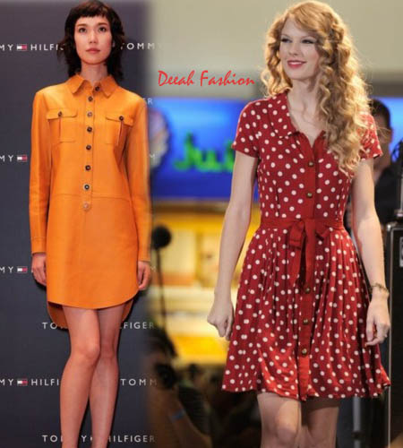 Gaun Kemeja Panjang (Shirt Dress) Terbaru