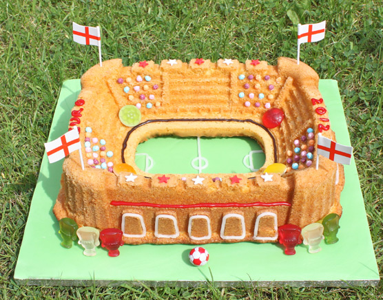 Euro 2012 Football Stadium Bundt Cake