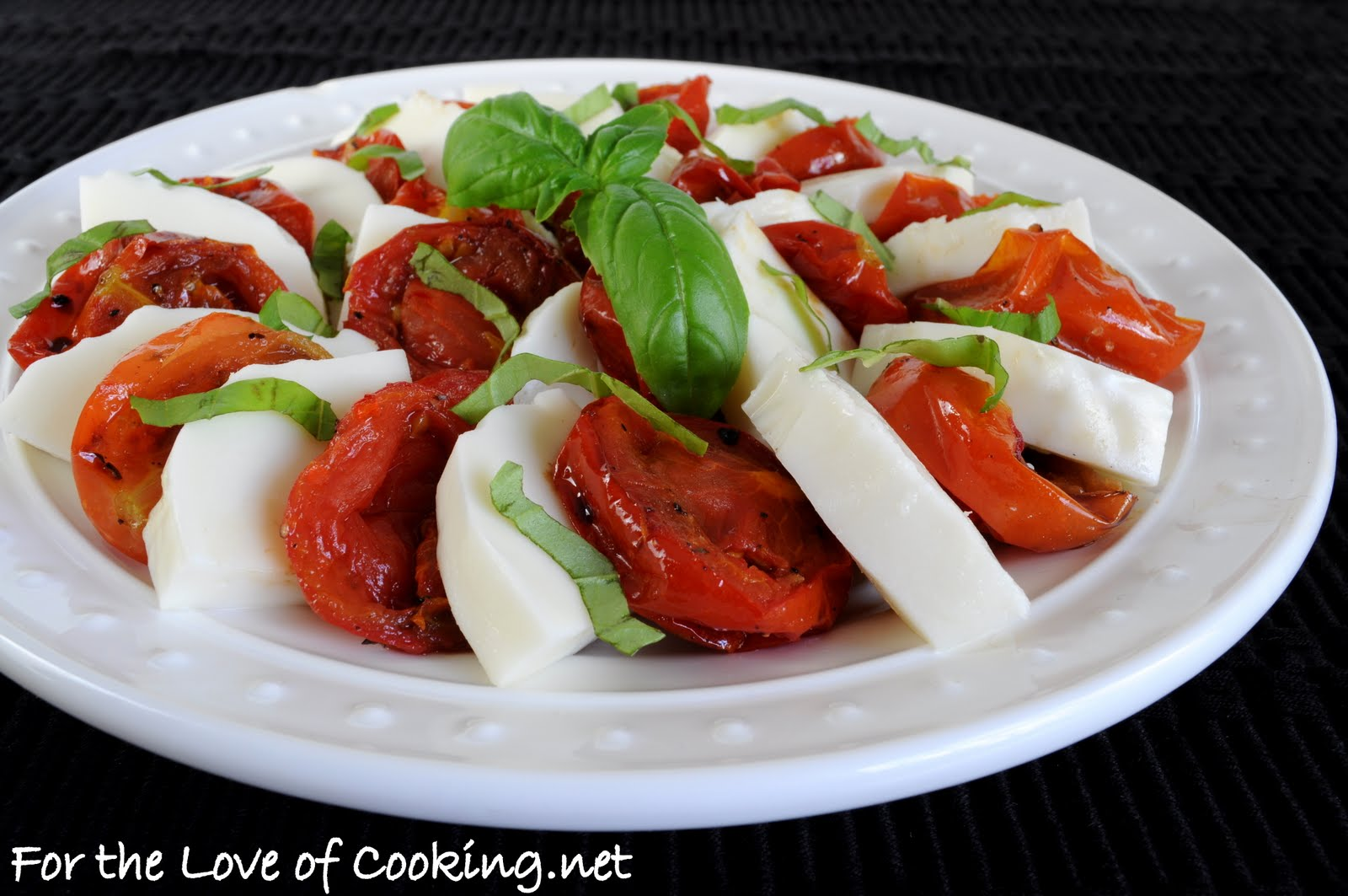 Balsamic Roasted Tomato Caprese Salad Recipe — Dishmaps
