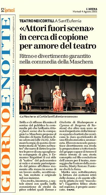 Estate Teatrale Veronese 2015 - Compagnia Teatrale La Maschera