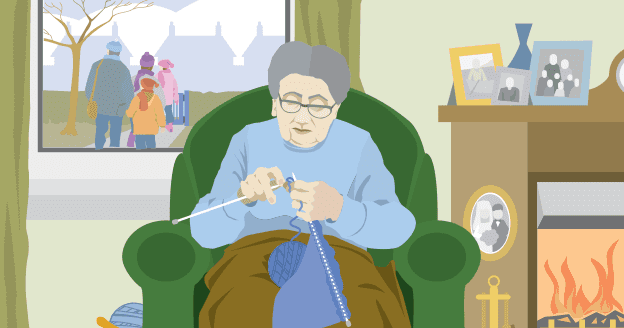 Grandma Knitting Spaghetti : Daily homework for my grandmother knitting by liz lochhead