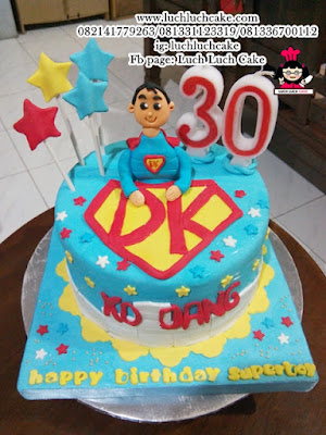 Superman Birthday Cake Fondant