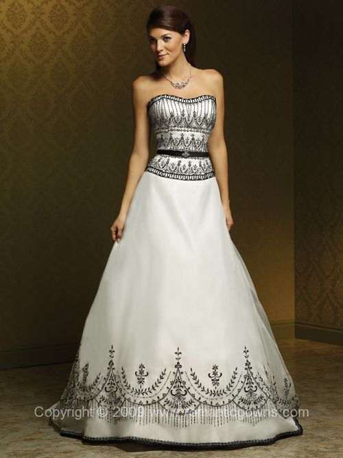Black And White Wedding Dresses - Wedding Plan Ideas