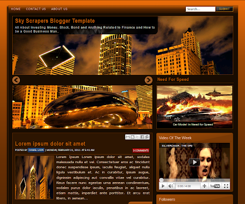 Dark Brown Blogger Theme