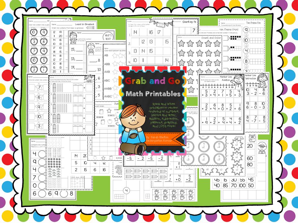 http://www.teacherspayteachers.com/Product/Grab-and-Go-Math-Printables-Numbers-1-20-1368971