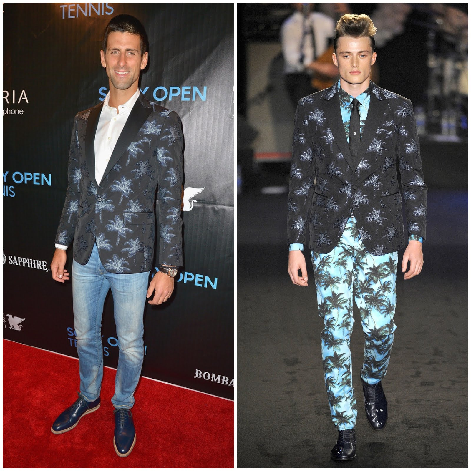 00O00 Menswear Blog Novak Djokovic in Moschino - Sony Open Player Party 2013 at JW Marriott Marquis on March 19, 2013 in Miami, Florida