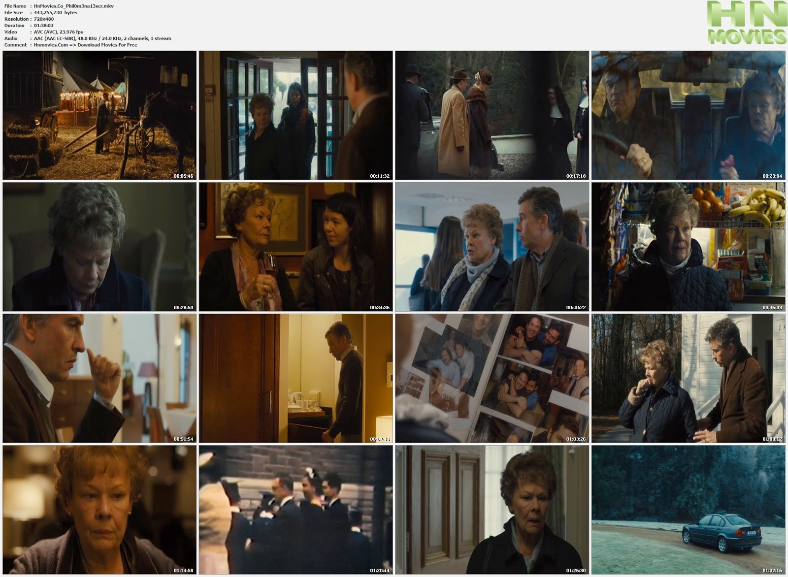 movie screenshot of Philomena fdmovie.com