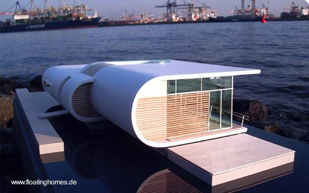 Arquitectura de casas modelos de casas flotantes for Bar flotante de madera
