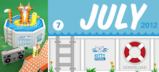calendario julho 2012 imprimir e montar