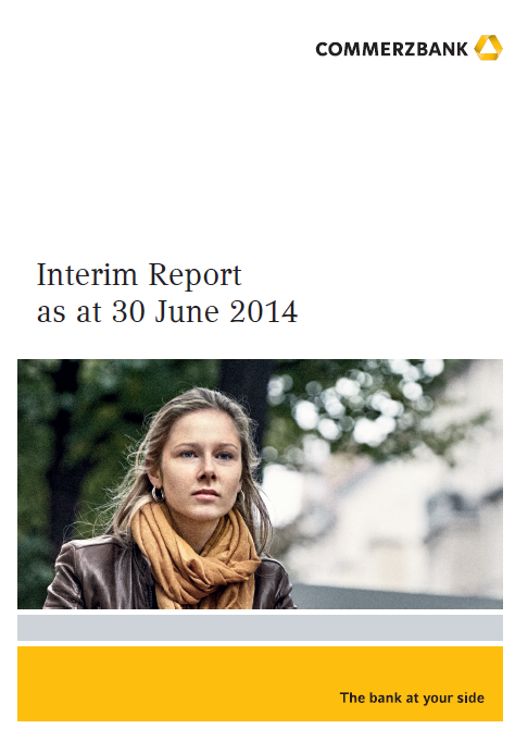 Commerzbank, Q2, 2014, front page