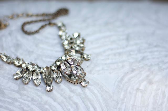 Add a Little Sparkle: Statement Necklace / On Crawford St.