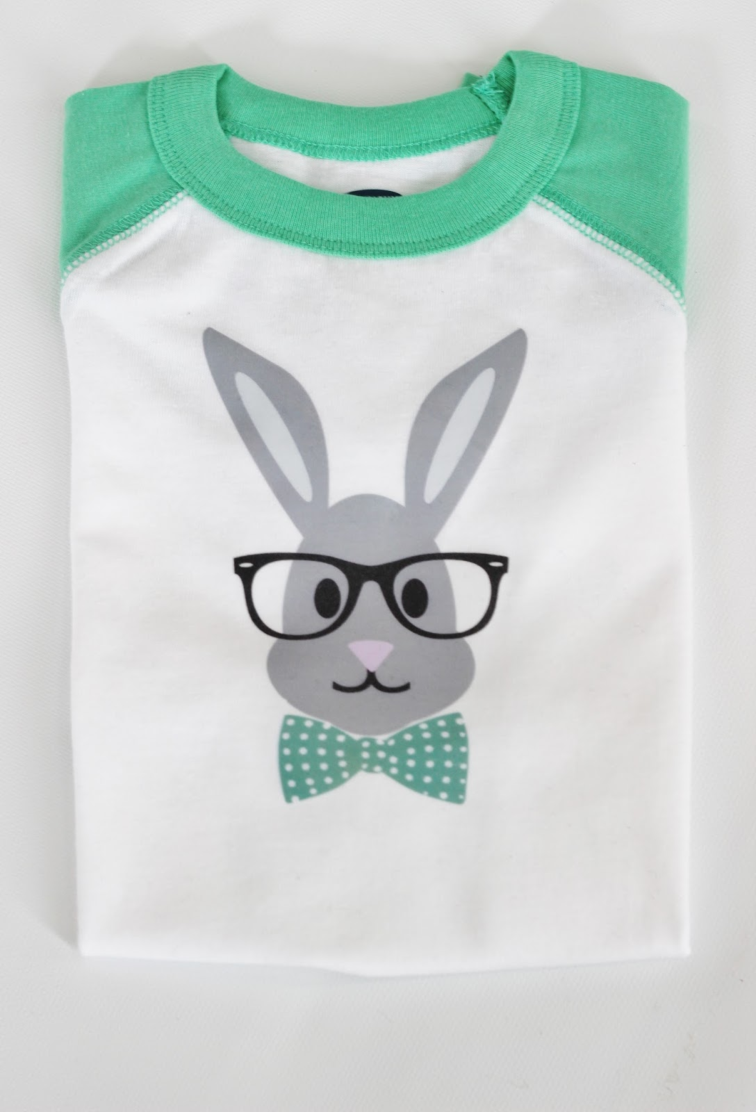 DIY Hipster Bunny Tee with Free Printable Iron on Bunny