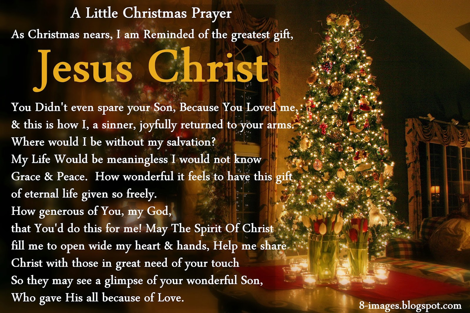 Christmas Prayer As Christmas Nears, I am Reminded Of The Greatest ...