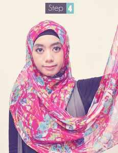 Tutorial Jilbab Praktis Pashmina Sifon