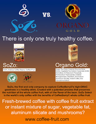 sozo coffeeberry vs. organo gold