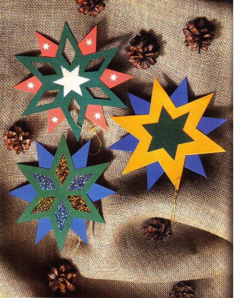 Поделка вифлеемская звезда и рождество 85