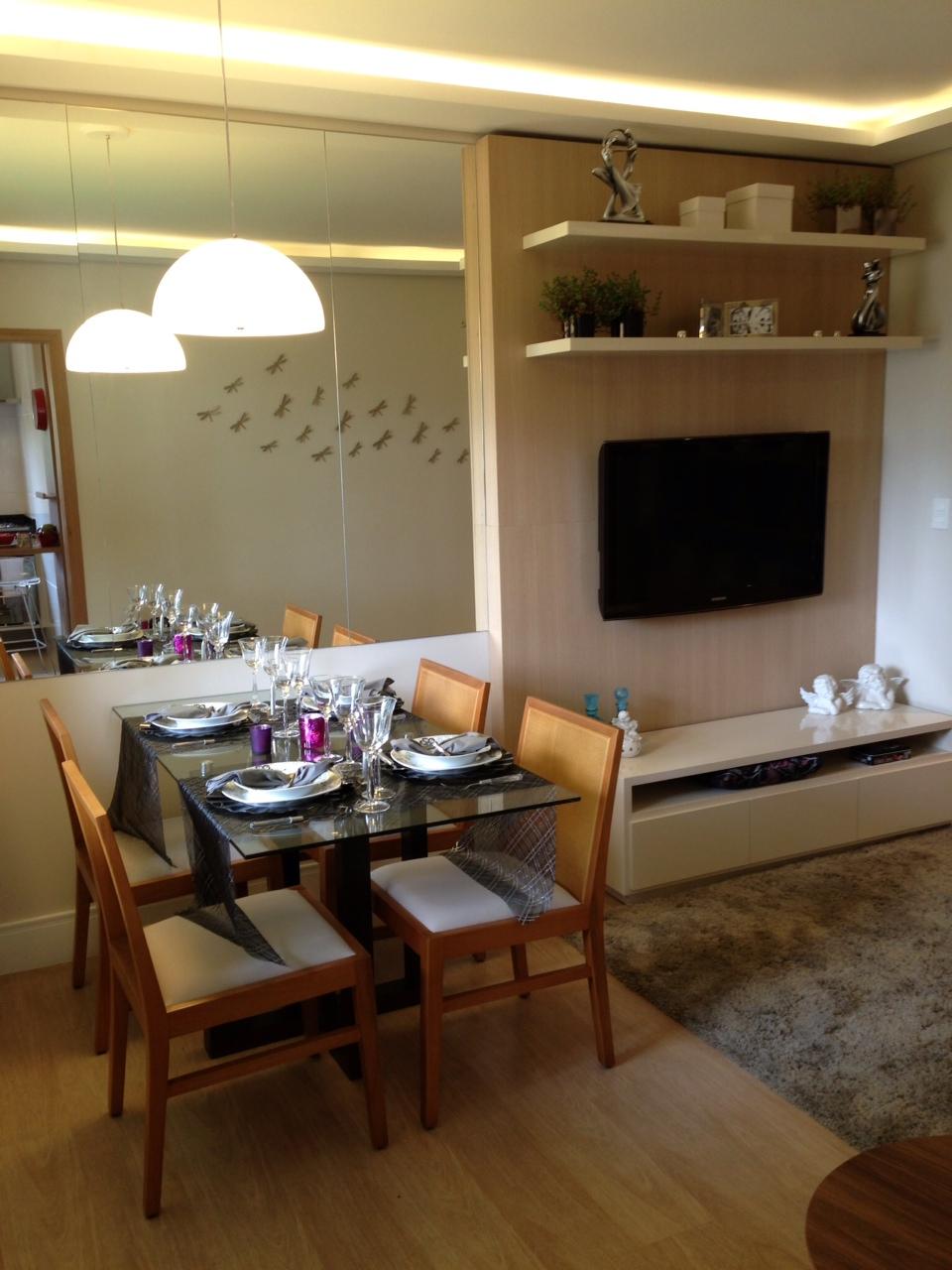 Fui morar numa casinha apartamento modelo decorado for Mesas para apartamentos pequenos