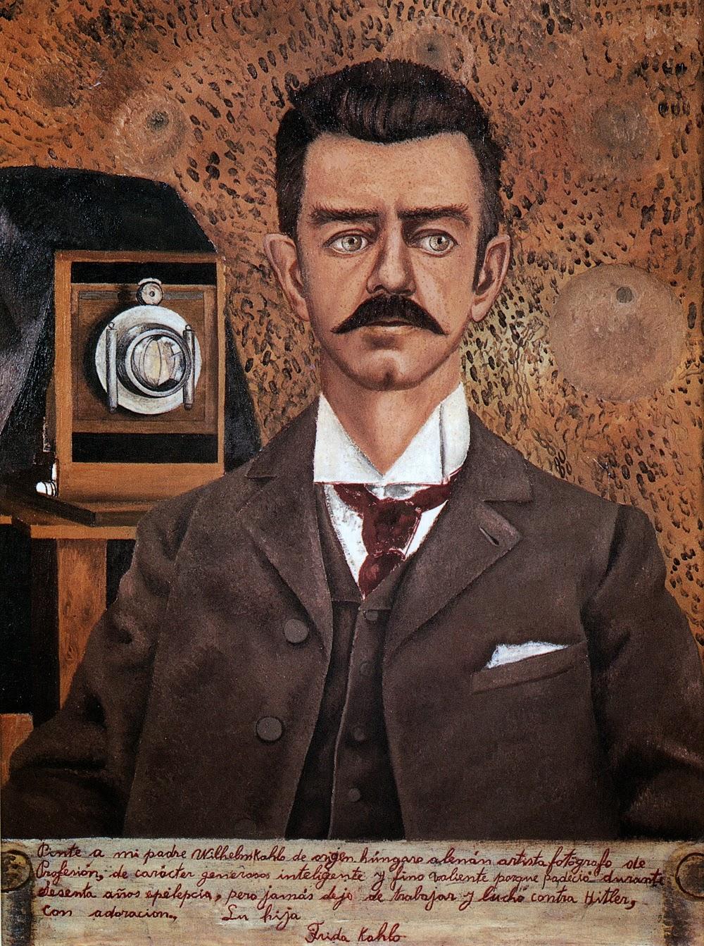 Frida Kahlo, Retrato de mi padre (1951), Museo Frida Kahlo, Coyoacán