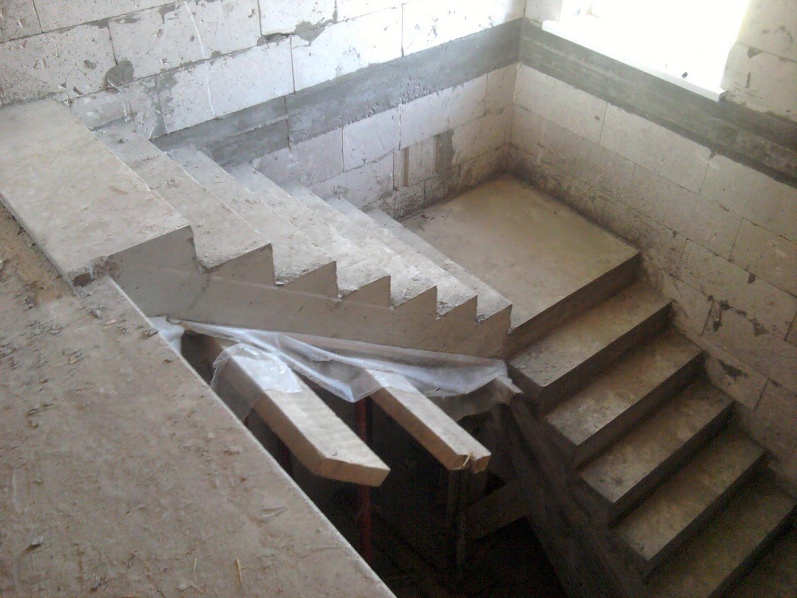 Бетонные лестница своими руками 49