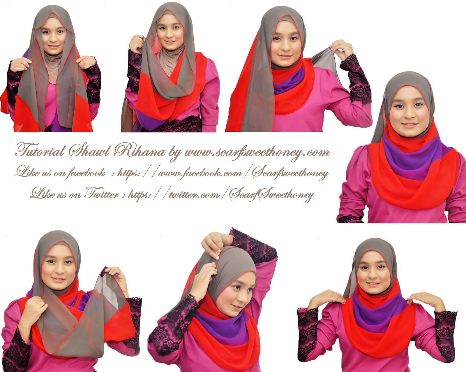 Cara Memakai Shawl RIHANA Tutorial Memakai Jilbab Hijab Modis