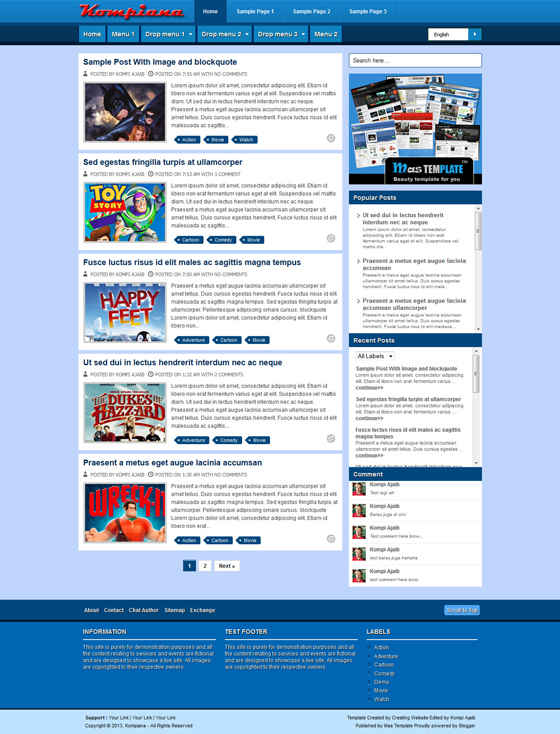 Kompiana Blogger Template