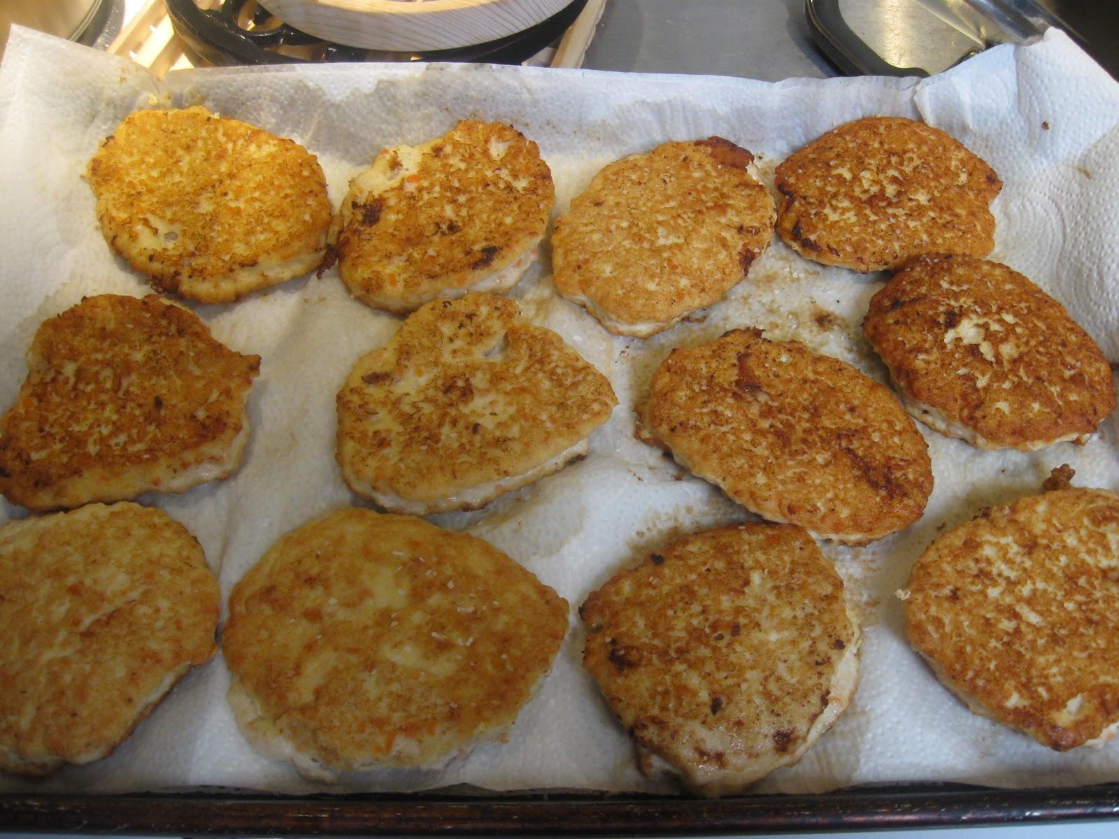 making chicken patties