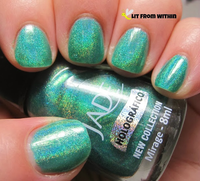 Jade Mirage, a turquoise holo with green flash