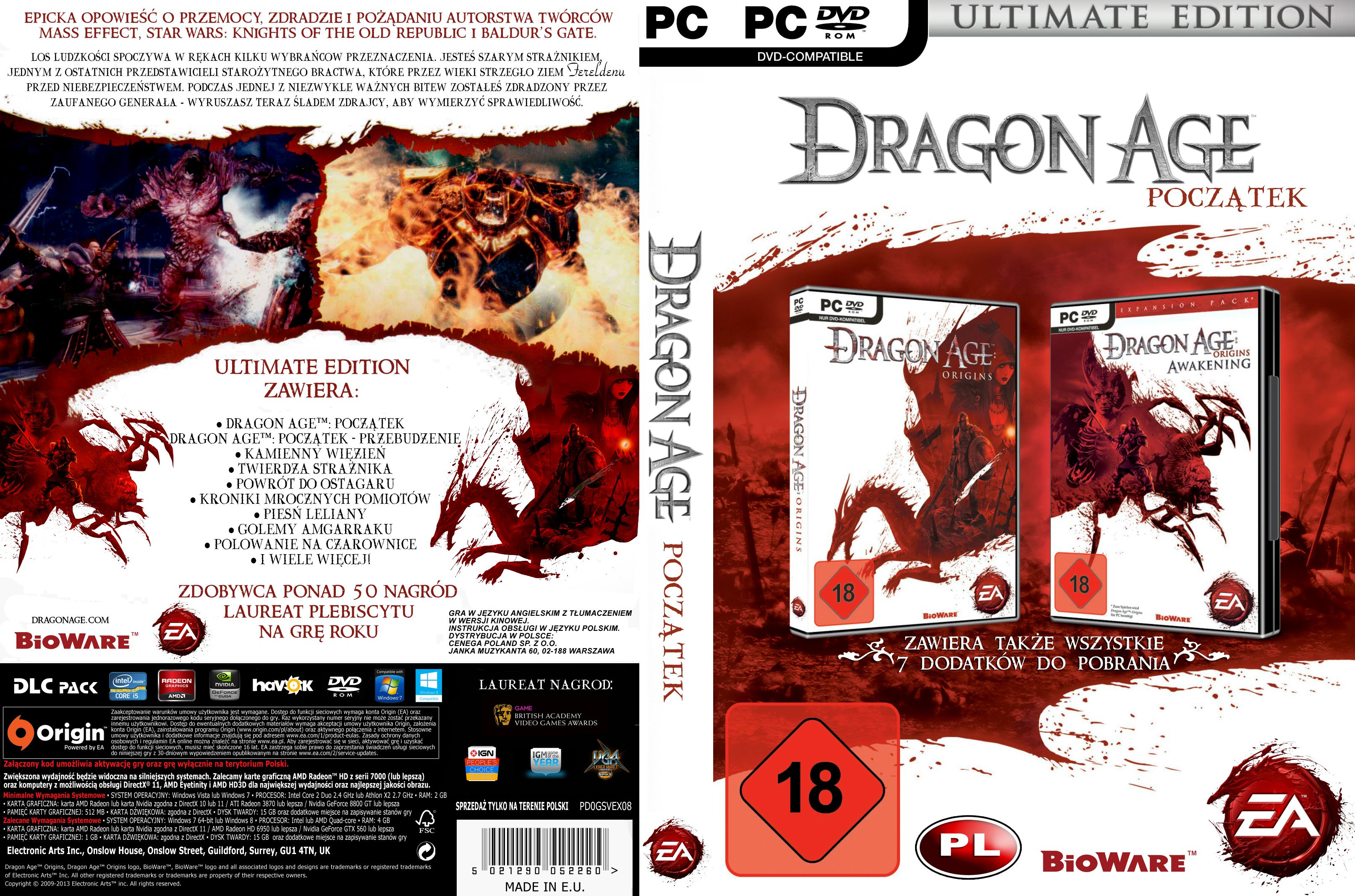 Capa Dragon Age Origins Ultimate Edition PC