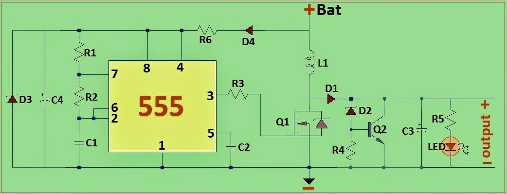 electronic circuits transformerless power supply led drivers circuit diagram 12v dc to 48v dc converter to charge a 48volt battery bank