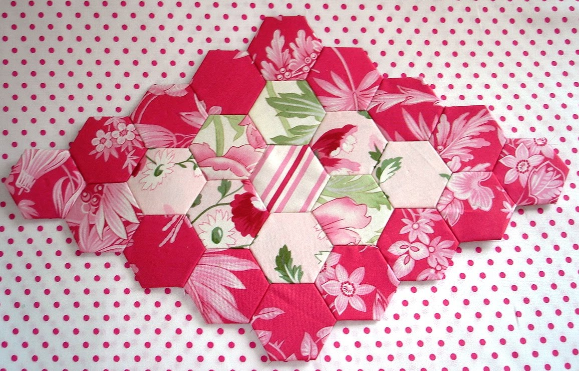 The scrappy appleyard mylar hexagon templates available for Hexagon quilt template plastic