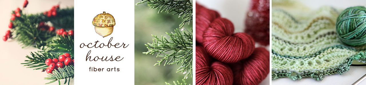 October House Blog - It is always spinning and knitting season here!