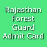 Rajasthan Vanrakshak Exam Admit Card 2015