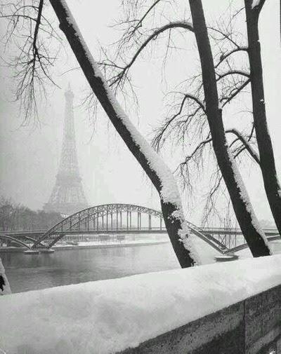 Et bien sûr...Paris en hiver.