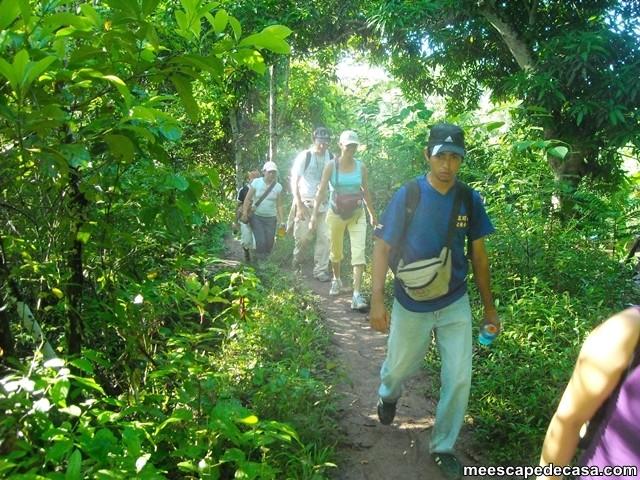 Caminata a las cascadas del Shilcayo, Perú (Checa, Paquita, Maju, Abel y Juanito)