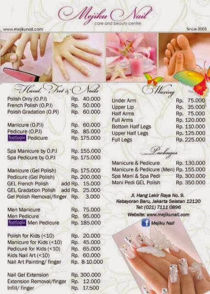 Nail Salon Price List Template Here is the price list~