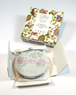 Labo Make-Up - Pure Flower Compact Eye-shadow Duo n.03 Olive green/Aqua green - packaging interno
