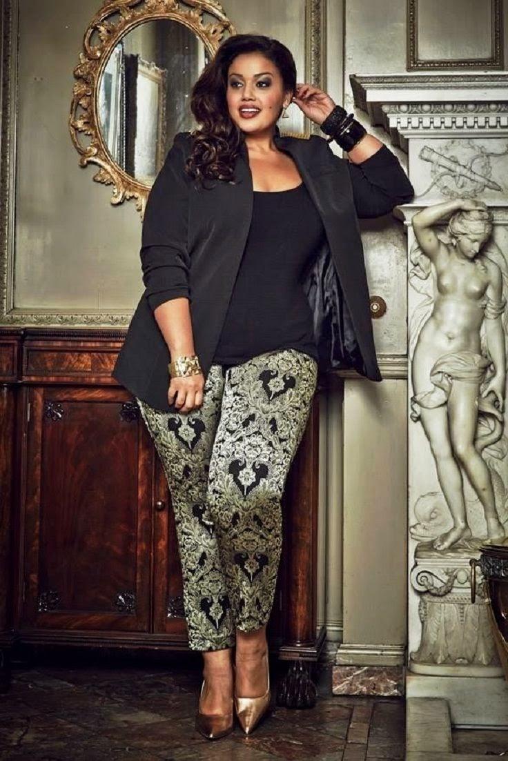 Moda plus size - moda tamanhos grandes blazer calças fantasia
