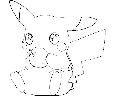 #16 Pikachu Coloring Page