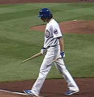 Jeff Samardzija breaks bat over knee