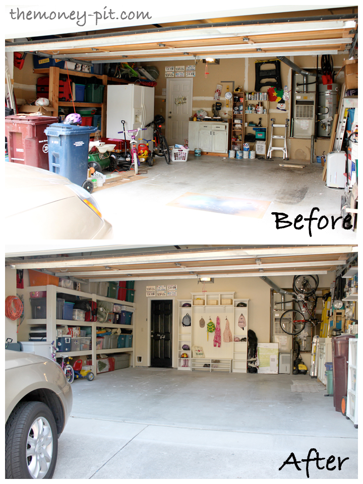 My home tours the kim six fix for Garage transformation