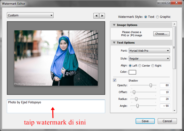 how to add watermark in lightroom 4