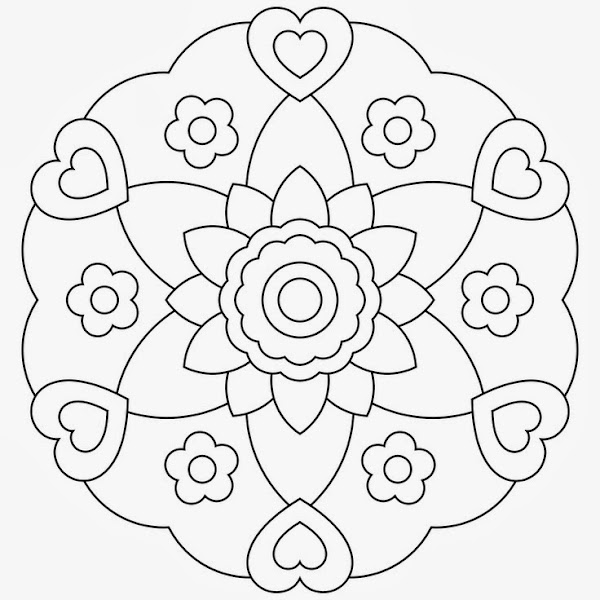 coloring pages hearts and butterflies - Coloring Pages Hearts Flowers