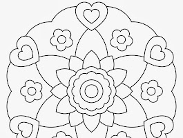 Circle Mandala Flower Coloring Pages Adult