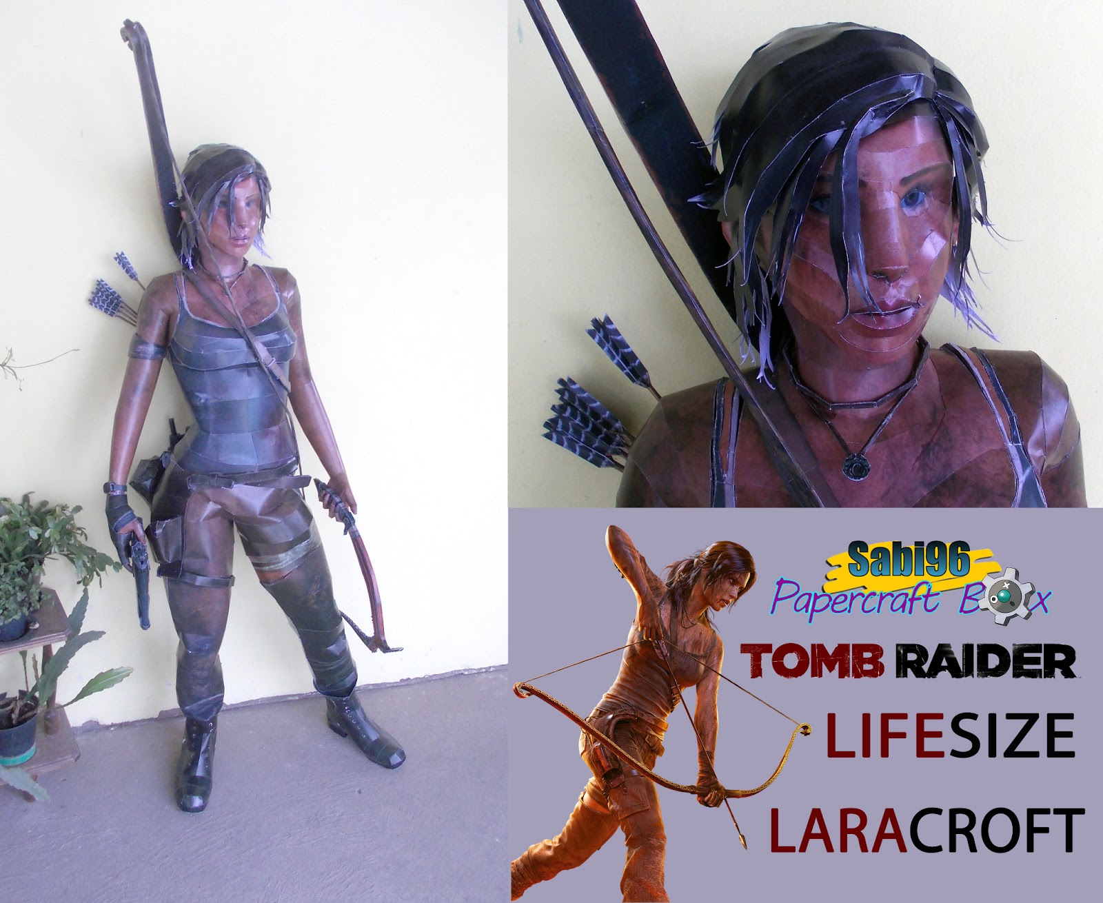 Tomb Raider Lara Croft Papercraft 2013 Reboot Version