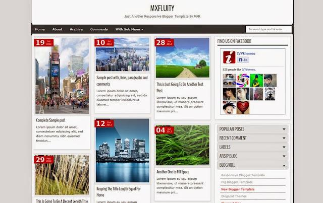 Conseil Iscomigoo #1: Sélection de templates Blogger, MXfluity