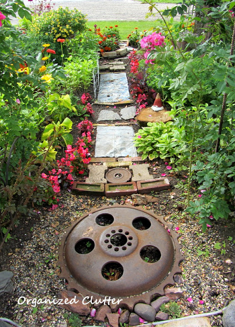 Awesome junk garden path