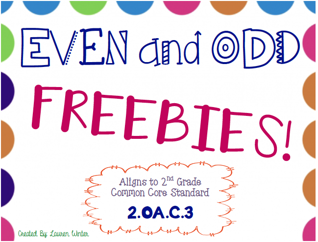 https://www.teacherspayteachers.com/Product/Even-and-Odd-Freebies-2OAC3-1828820