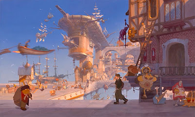 Treasure Planet review Disney Netflix Jim Hawkins spaceport