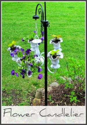 Yard Art - Flower Chandelier